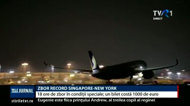 Zbor record Singapore-New York