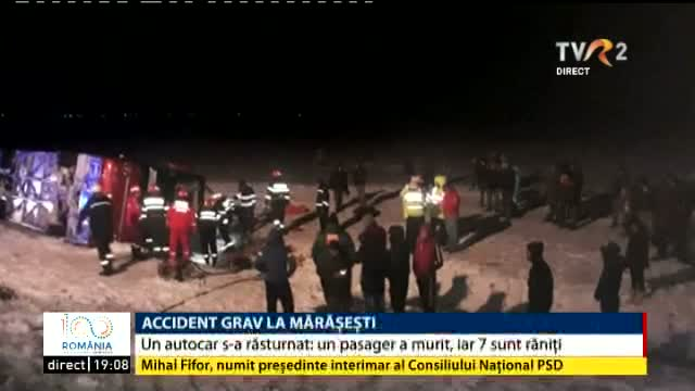 Accident grav la Mărășești