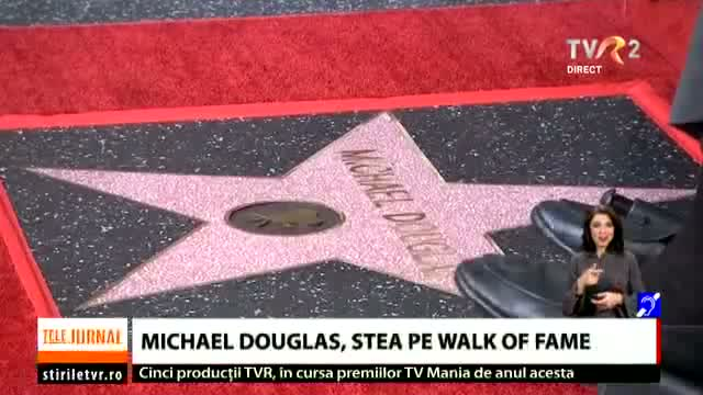 Michael Douglas, stea pe Walk of Fame