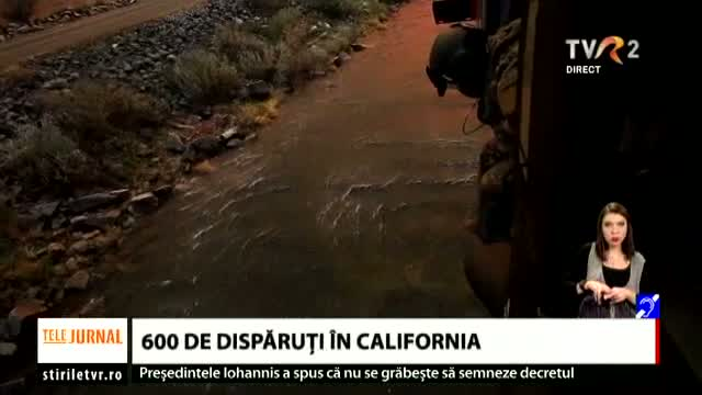 600 de disparuti in California