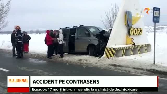 Accident pe contrasens