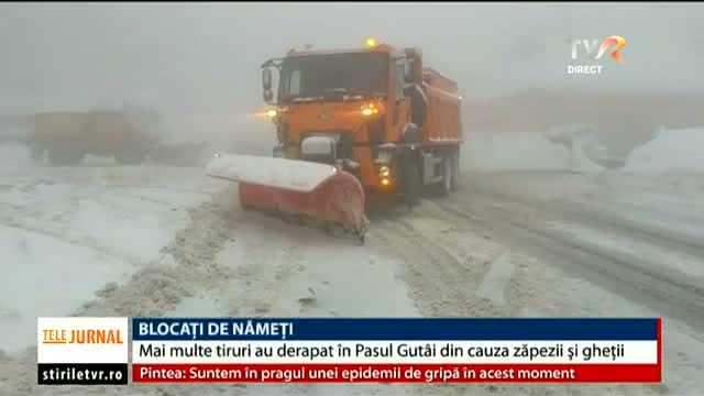 Blocați de nămeți