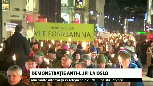 Demonstrație anti-lupi la Oslo