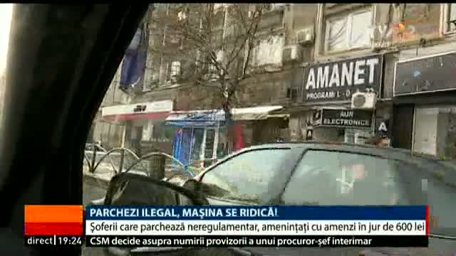 Parchezi ilegal, mașina se ridică