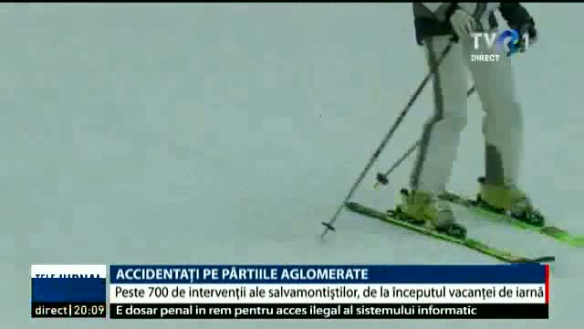 Accidentați pe pârtiile aglomerate