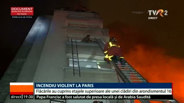 Incendiu violent la Paris
