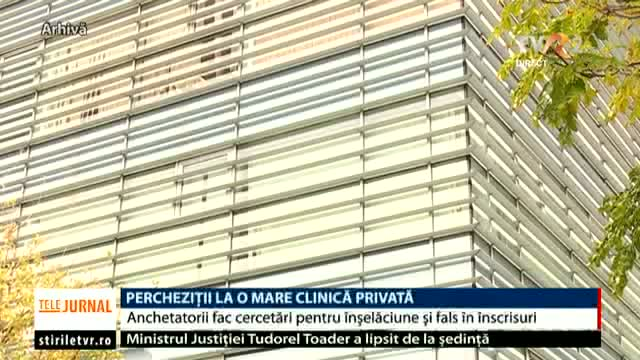 Percheziții la clinica Sanador
