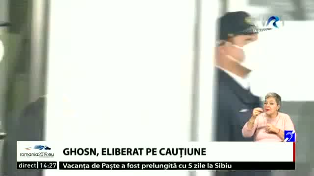 Ghosn, eliberat pe cauțiune
