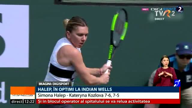 Halep, în optimi la Indian Wells
