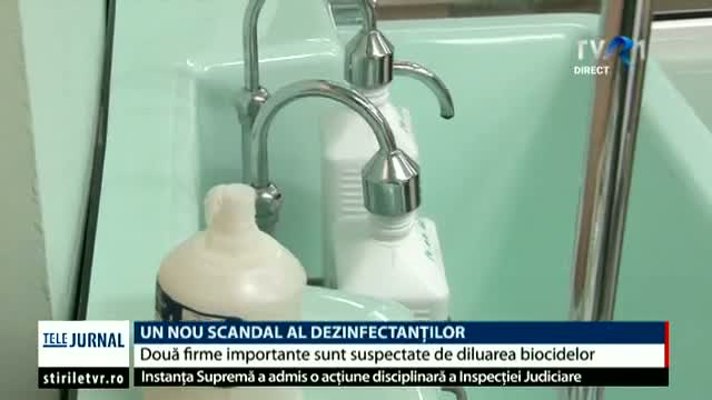 Un nou scandal al dezinfectanților