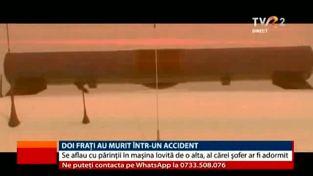 Doi frați au murit într-un accident