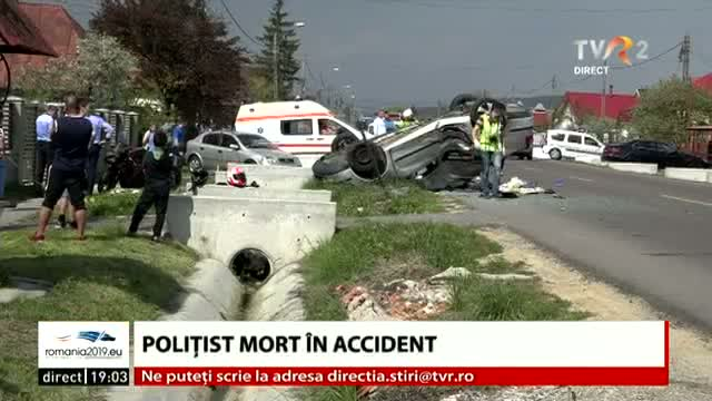 Polițist mort în accident