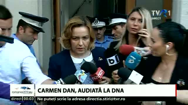 Carmen Dan, audiată la DNA