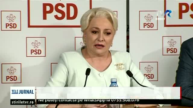 Declarații Viorica Dăncilă - Telejurnal 24.00