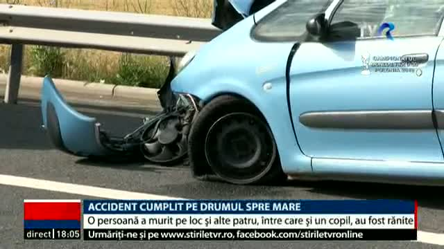 Accident pe autostradă