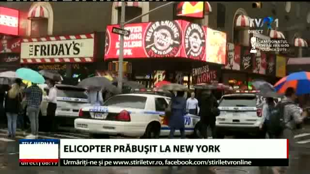 Elicopter prăbușit la New York