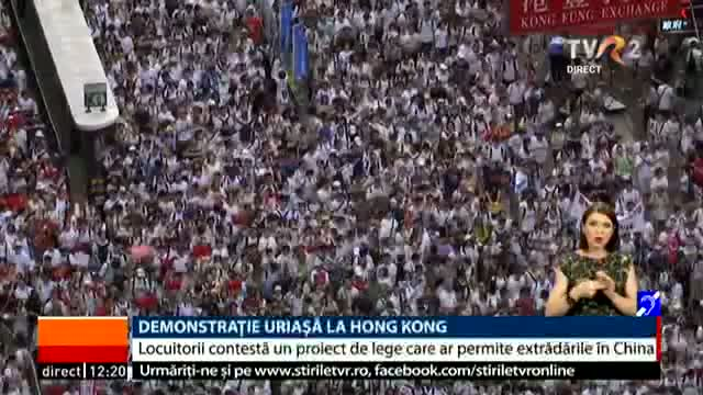 Demonstrație la Hong Kong