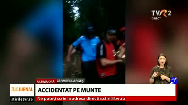 Turist accidentat pe munte