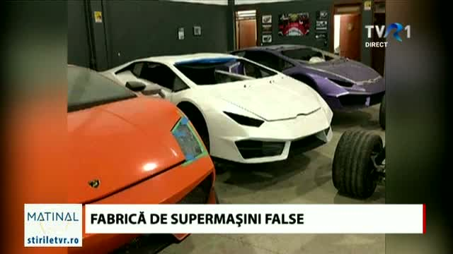 Fabrică de supermașini false