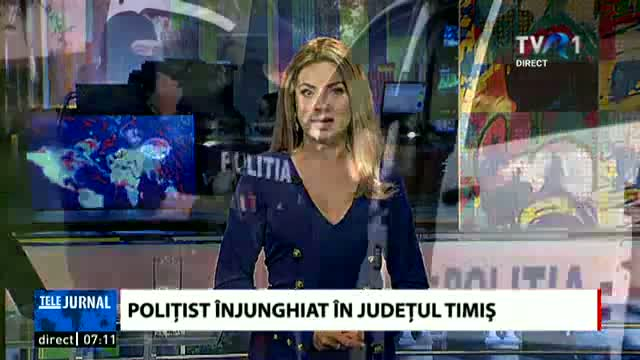 Polițist injunghiat