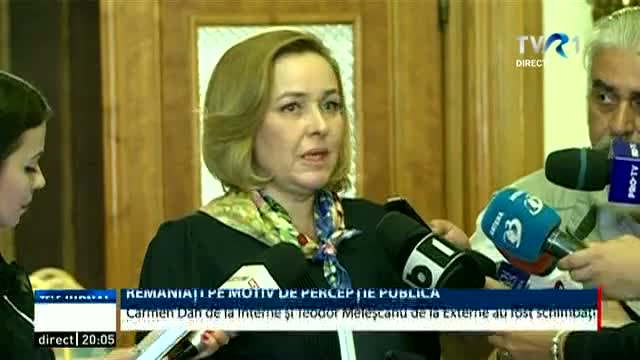 Remaniați pe motive de percepție publică