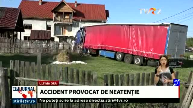 Accident provocat din neatenție