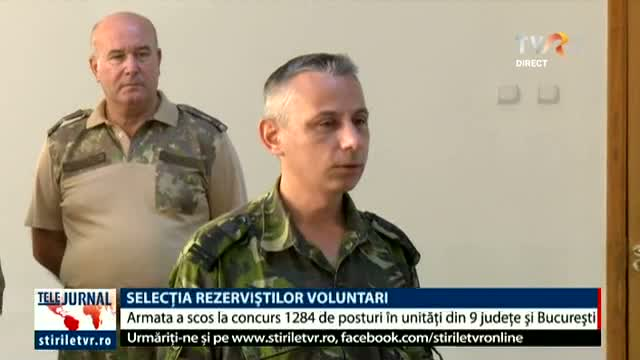 Selecția rezerviștilor voluntari
