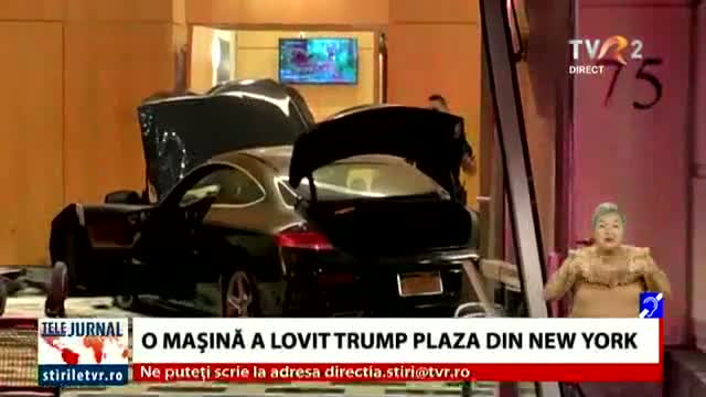 O mașină a lovit Trump Plaza din New York