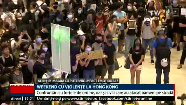 Weekend cu violențe la Hong Kong