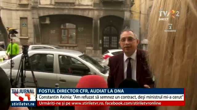 Fostul director CFR, audiat la DNA