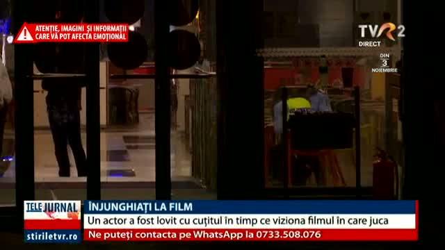 Înjunghiați la film