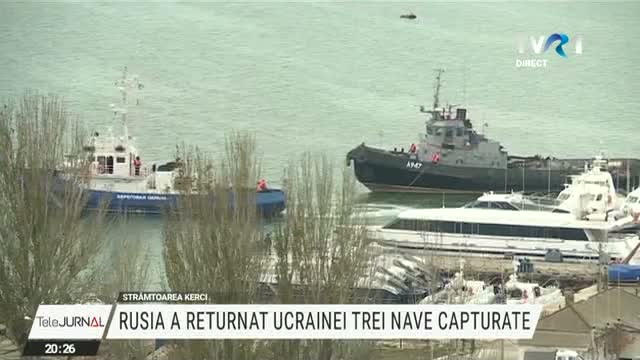 Rusia a returnat Ucrainei trei nave capturate