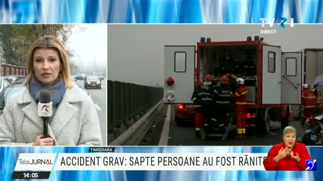 Grav accident pe autostradă