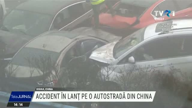 Accident în lanț pe o autostradă din China