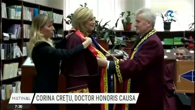 Corina Crețu, Doctor Honoris Causa