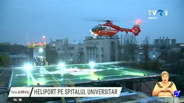 Spitalul Universitar are heliport functional