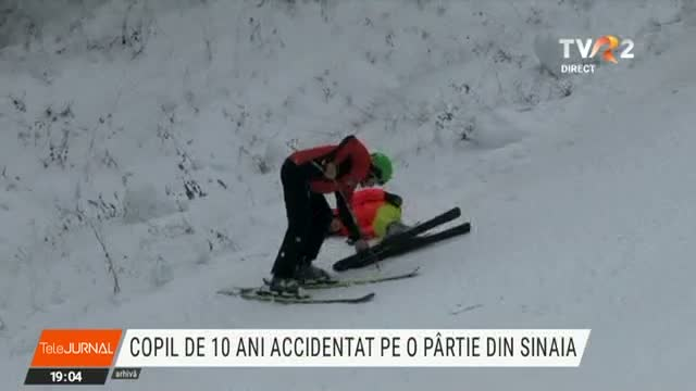 Copil de 10 ani, accidentat pe o pârtie la Sinaia