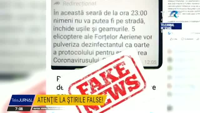 Atenție la știrile false