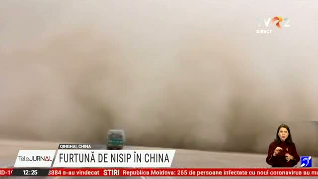 Furtuna de nisip in China
