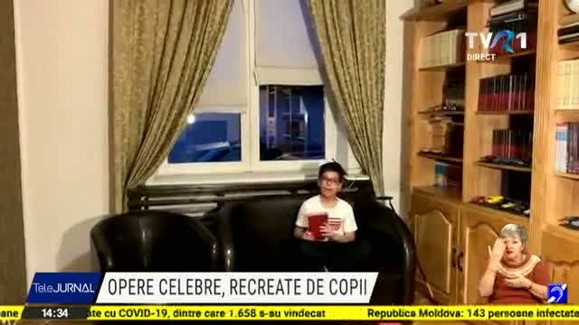 Opere celebre recreate de copii. 28 de reproduceri