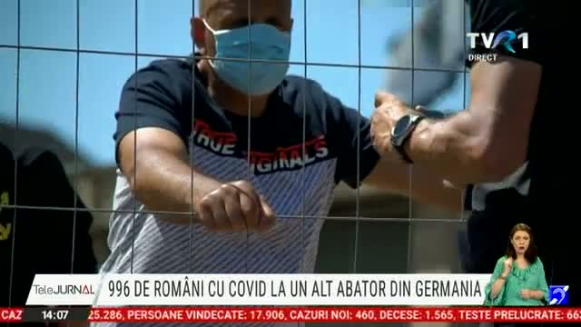 996 de români infectați la un abator din Germania