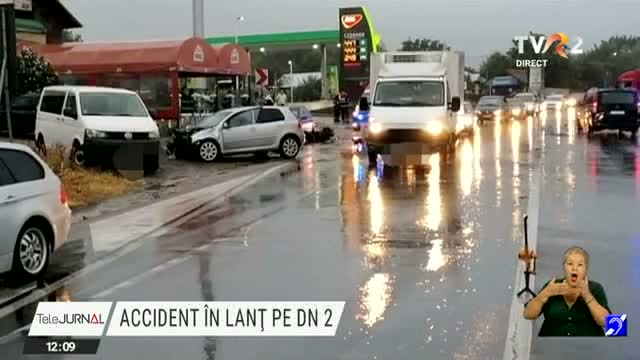 Accident în lanț pe DN2