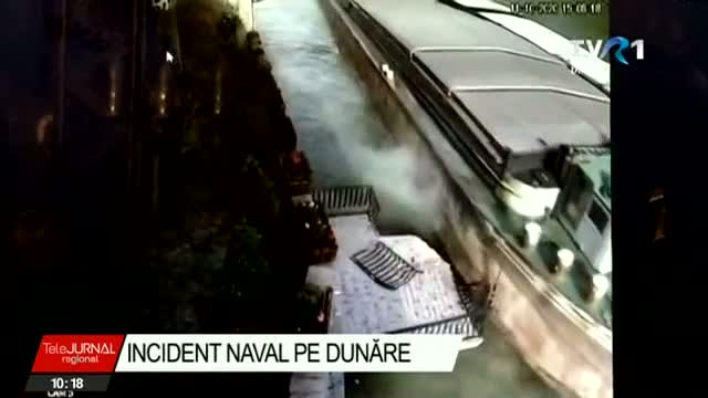 Grav incident naval pe Dunăre