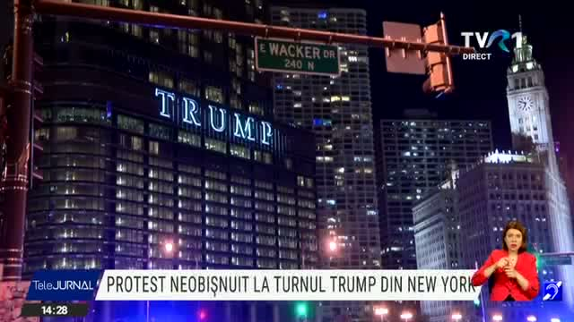 Protest neobișnuit la turnul Trump din New York