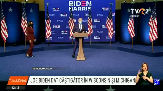 Joe Biden, dat câștigător în Wisconsin și Michigan