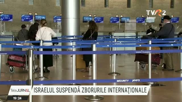 Israel suspenda zborurile internationale