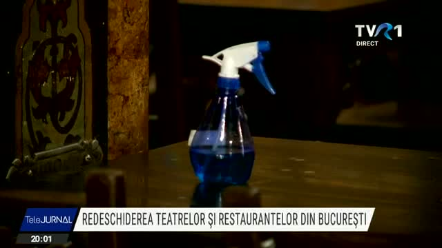 S-au redeschis teatrele si restaurantele in Bucuresti