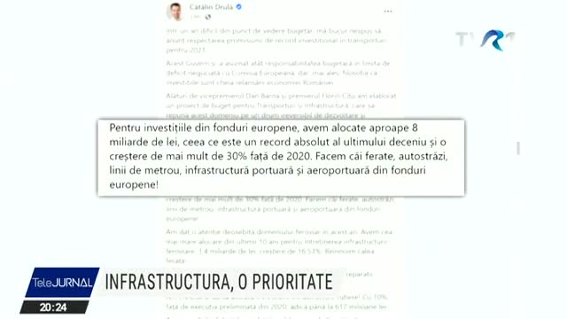Infrastructura, o prioritate