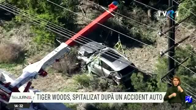 Tiger Woods, spitalizat după un accident auto