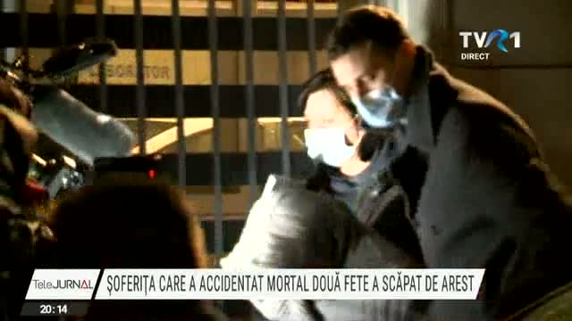 Șoferița care a accidentat mortal două fete a scăpat de arest